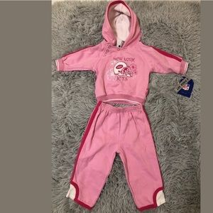 Reebok New York Jets Infants Girls 2 piece set12M